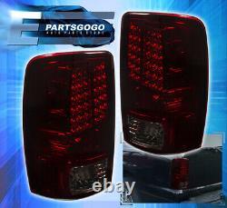 00-06 Gmc Yukon Replacement LED Brake Tail Lights Lamps Assembly Lh Rh Smoke Red