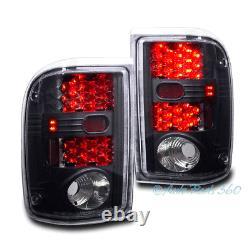 01-05 Ford Ranger Pickup Truck Led Tail Brake Lights Rear Lamps Assemblies Black