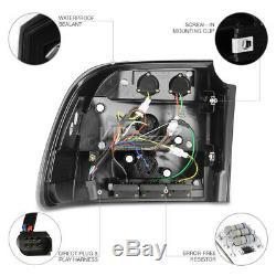 03-05 Porsche Cayenne Turbo L+R Black LED Tail Light Brake Signal Lamp Assembly