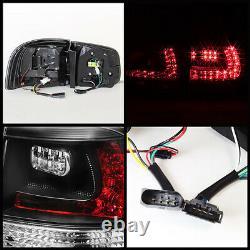 03-07 Volkswagen VW Touareg TDI V6 V8 Black LED SMD Rear Brake Tail Lights