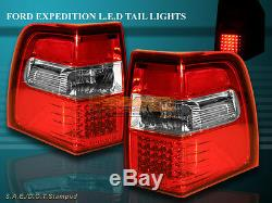 07-11 FORD EXPEDITION L. E. D Tail Lights RED Brake Lamps Assembly