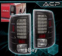 09-18 Ram 1500 Replacement L. E. D Style Brake Stop Tail Lights Lamps Set Black