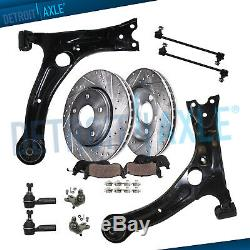 12PC Front Lower Control Arm Assembly for 2003 2008 Pontiac Vibe Toyota Matrix