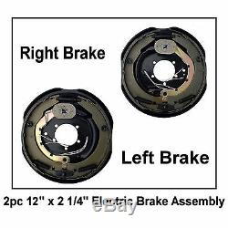 12 Electric Trailer Brake 12 x 2 Assembly Right & Left 2pc 6000 7000 Axle