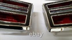 1968 Dodge Dart Brake Light Taillight Lens & Bezel Assemblies 68 lamp lenses