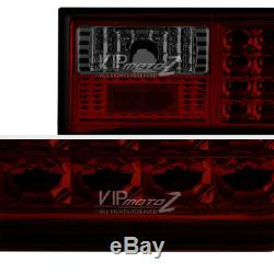 1988-1993 Ford Mustang 5.0 Red Smoke LED Rear Signal Brake Tail Light Assembly