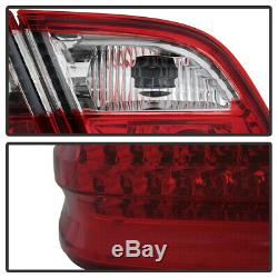 1996-2002 M-BENZ W210 E-CLASS RED/CLEAR LED Rear Brake Lamp Tail Light Assembly