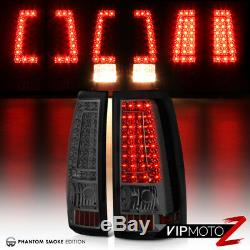 1999-2002 Chevrolet Silverado SMOKED LED SMD Rear Brake Tail Lights Assembly