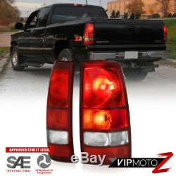 1999-2006 GMC Sierra 1500 2500 Rear Brake Tail Lights Lamps Assembly PAIR LH+RH