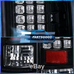 2002-2006 Dodge Ram 1500 2500 3500 Black Clear Led Tail Brake Lights Left+Right