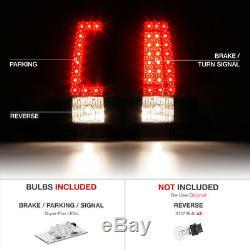 2003 2004 2005 2006 Chevrolet Silverado Chrome LED Brake Tail Lights Assembly