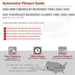 2003-2006 Chevy Silverado PickUp SMOKE Rear LED Tail Light Brake Lamp Assembly