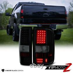2004-2008 Ford F150 Lobo SINISTER BLACK SMD LED Rear Tail Lights Lamp Assembly