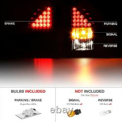 2005-2008 Dodge Magnum DARKEST Black Smoke LED Parking Tail Lights Lamp Signal