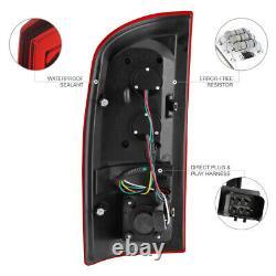 2006 Dodge Ram 1500 RED LED Tail Lights Assembly Chrome Fog High Brake Cargo