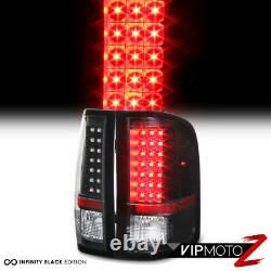 2007-2013 Chevy Silverado V8 1500 2500HD 3500HD Black LED Brake Tail Light Lamp