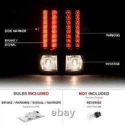 2007-2013 Silverado LS Smoked headlights led drl rear brake lights SMD Assembly