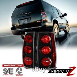2007-2014 GMC Yukon XL Chevy Suburban Tahoe DENALI STYLE Black Tail Light PAIR