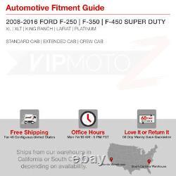 2007-2016 Ford F250 F350 F450 SuperDuty SINISTER BLACK LED Tail Light Assembly