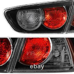 2008-2017 Mitsubishi Lancer EVO Ralliart DARKEST SMOKE Tail Lights Replacement