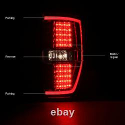 2009-2014 Ford F-150 OLED TUBE Red LED Tail Brake Stop Turn Signal Lights Pair