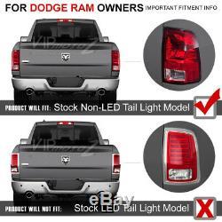 2009-2018 Dodge Ram 1500 2500 3500 Chrome LED Brake Tail Lights Assembly 13 14
