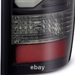 2009-2018 Ram 1500 LED Jet Black Smoke Tail Lights Brake Lamp Housing Assembly