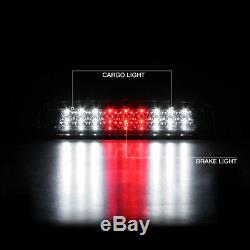2010-2018 Dodge RAM 1500 3500 Dark Tinted Led Tail Light 3rd Brake Assembly PAIR