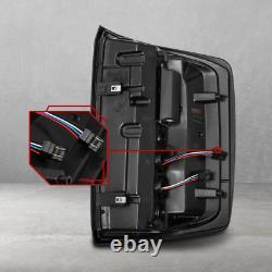 2014-2018 Chevy Silverado 1500 Jet Black Smoke Tail Lights Brake Lamp Assembly