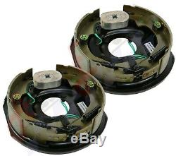 2pc Electric Trailer Brake 10 x 2.25 Assembly Right & Left SIde 3500 lb axles