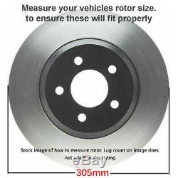 305mm Front Drilled Brake Rotors Wheel Hub Bearing 4WD Chevy Suburban 1500 Tahoe