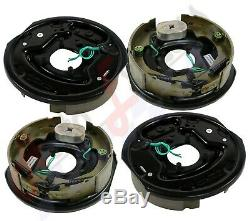 (4) 10 x 2.25 Electric Trailer Brake Assembly Right Left 4500lb axle 2 1/4