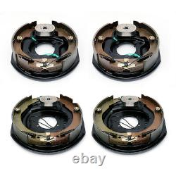 4pcs 12 x 2 Left & Right Electric trailer brake assembly 5200 to 7000 lbs axle