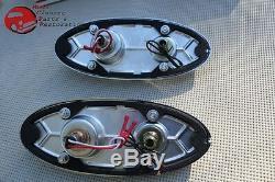 54 Chevy Tail Lights Backup Brake Lens Chrome Bezel Gasket Guide Marking
