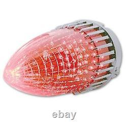 59 Cadillac Red LED Rear Tail Brake Light Lamp Lens & Chrome Bezel Assembly Pair