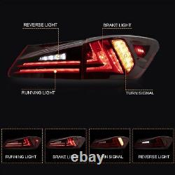 AMBER LED Headlights + RED CLEAR Tail Lights for 06-13 IS250/350 Sedan 08-14 ISF