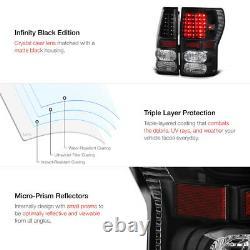 BLACK For 07-13 Toyota Tundra LED Rear Brake Tail Light Signal Lamp Error Free