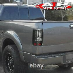 Black Clear LED Tail Lights Brake Lamps Pair For 2004-2008 Ford F150 Styleside