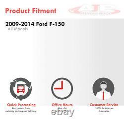 Black Housing Clear Lens LED Tail Lights Brake Lamps For 2009-2014 Ford F-150