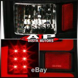 Black Red LED Tube Tail Lights Brake Lamp For 2002-2006 Dodge Ram 1500 2500 3500