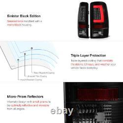 Black Smoke For 00-06 Chevy Suburban/Tahoe/Yukon Neon Tube LED Tail Brake Light