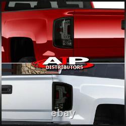 Black Smoke Tube LED Tail Lights Lamp For 2014-2018 Silverado 1500 2500HD 3500HD