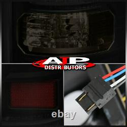 Black Smoked LED Tail Lights Brake Lamps Pair For 2004-2008 Ford F150 Styleside