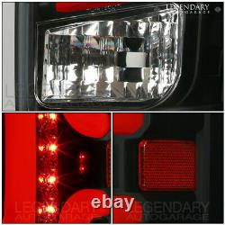 Black Tail Light Lamps Red LED Tube Tail Light Lamp Assembly For 14-18 Silverado