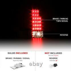COOLEST Matte Super Flux LED Rear Tail Lamps 88-98 Chevy Truck Tahoe Yukon C10