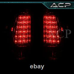 Chrome Housing Red Clear Lens LED Tail Lights For 03 04 05 06 Silverado 1500