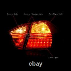 Clear Red LED Tail Lights Assembly LH RH For 2006-2008 BMW 3 Series E90 4D Sedan