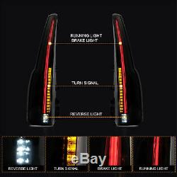 Custom Escalade Style SMOKE LED Fiber Optic Taillights for 15-20 GMC Yukon /XL