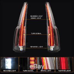 Custom LED Taillights Fiber Optic Escalade Style For 2015-2020 Chevrolet Tahoe