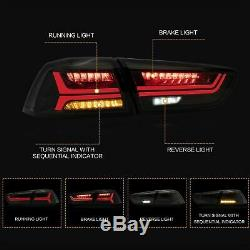 Customized ALL BLACK Headlights withDEMON EYES+SMOKED Taillights for 08-17 Lancer